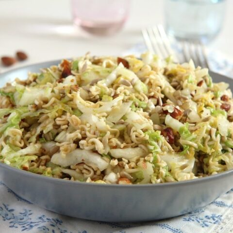 ramen noodle salad 480x480 Napa Cabbage Salad with Ramen Noodles