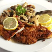 schnitzel hunter 200x200 Jägerschnitzel   German Schnitzel with Mushrooms