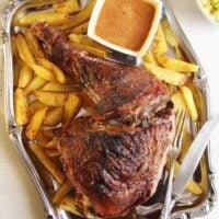 turkey leg potatoes 683x1024 200x200 Oven Slow Cooked Turkey Leg
