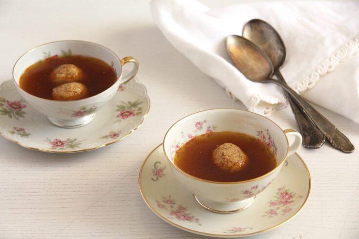 , How to Make Roasted Vegetable Broth and Hazelnut Dumplings