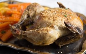 whole chicken with oranges 4 300x190 Whole Roasted Chicken with Oranges, Carrots and Onions