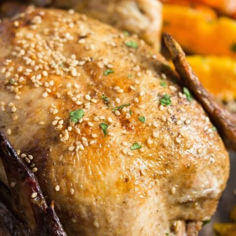 whole chicken with oranges 6 480x480 Whole Roasted Chicken with Oranges, Carrots and Onions