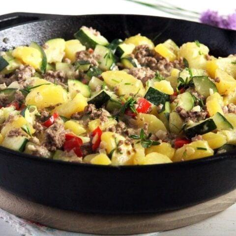Ground Beef, Zucchini and Potatoes