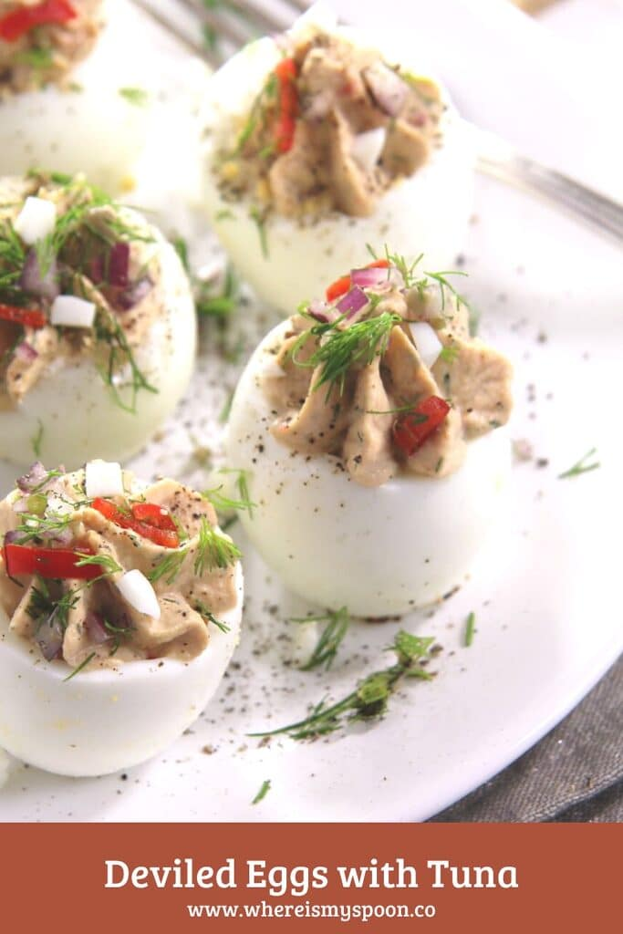tuna and eggs with capers and chili