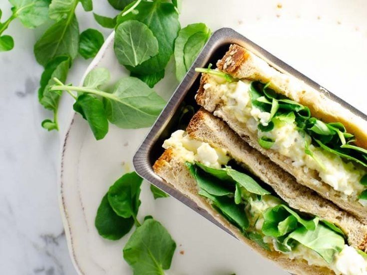 Egg and Watercress Sandwich Egg and Cress 780 Umami Girl 2 735x551 What To Do With Hard Boiled Eggs