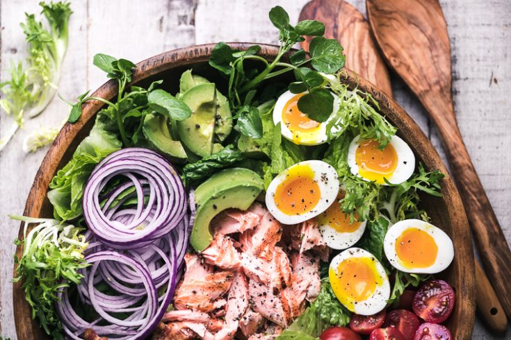 Salmon Cobb Salad 8502285 March 05 2019 735x490 What To Do With Hard Boiled Eggs