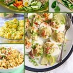 a round-up of recipes made with leftover hard-boiled eggs