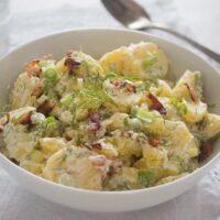 best potato salad 11 200x200 Sour Cream Potato Salad with Bacon (Potato Salad Without Mayo)