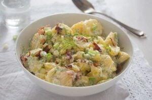 best potato salad 11 300x197 Sour Cream Potato Salad with Bacon (Potato Salad Without Mayo)