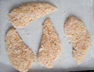 crispy baked chicken breast 3 300x232 Baked Panko Chicken Breast – Crispy Parmesan Chicken