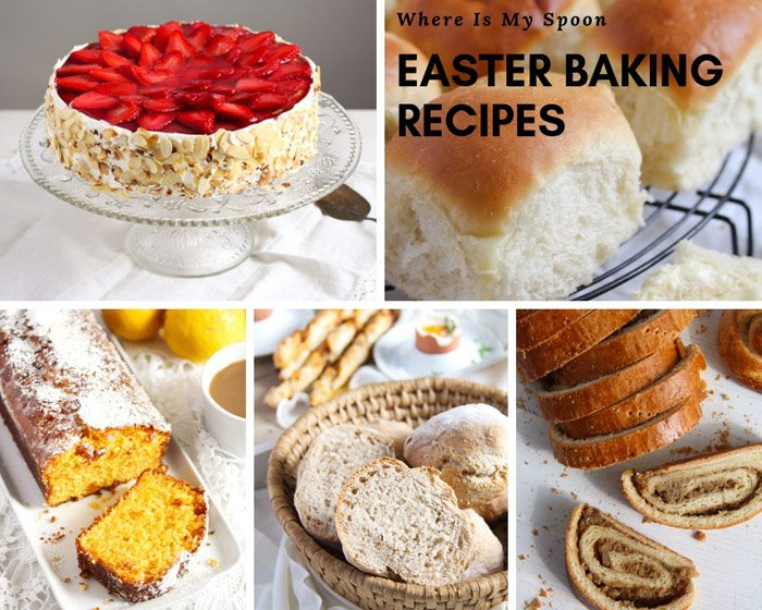 a collection of easter baking recipes