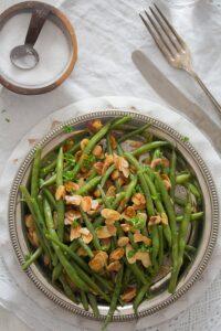 green bean almondine 8 200x300 Green Beans Almondine – French Style Green Beans Recipe