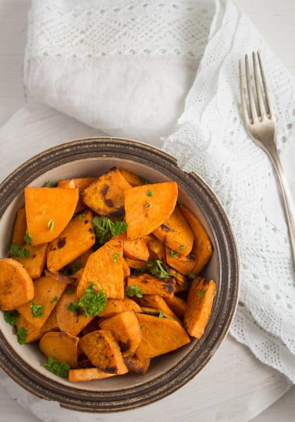 skillet fried sweet potatoes