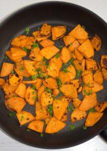 pan fried sweet potatoes 8 214x300 Pan Fried Sweet Potatoes