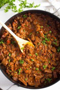 hungarian goulash 9 200x300 Hungarian Beef Goulash – Authentic Hungarian Goulash Recipe