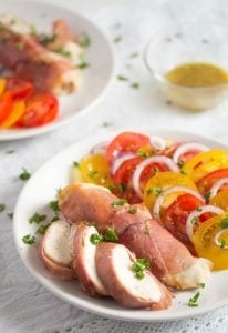prosciutto wrapped chicken 7 206x300 Easy Prosciutto Wrapped Chicken Breast