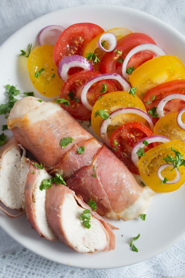 , Easy Prosciutto Wrapped Chicken Breast