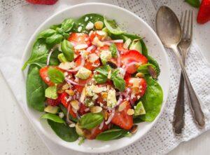strawberry salad with poppy seed dressing 3 300x221 strawberry salad with poppy seed dressing 3