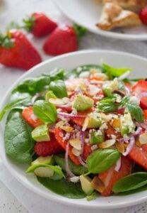 strawberry salad with poppy seed dressing 5 208x300 Strawberry Salad with Poppy Seed Dressing and Almonds