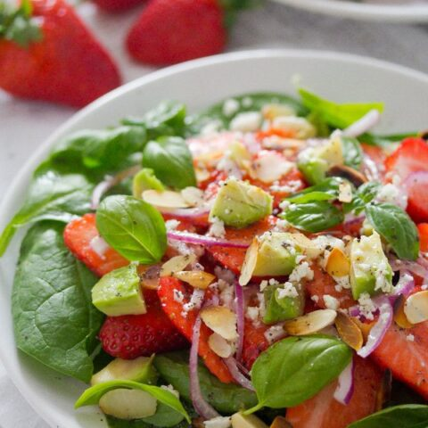 Strawberry Salad with Poppy Seed Dressing and Almonds