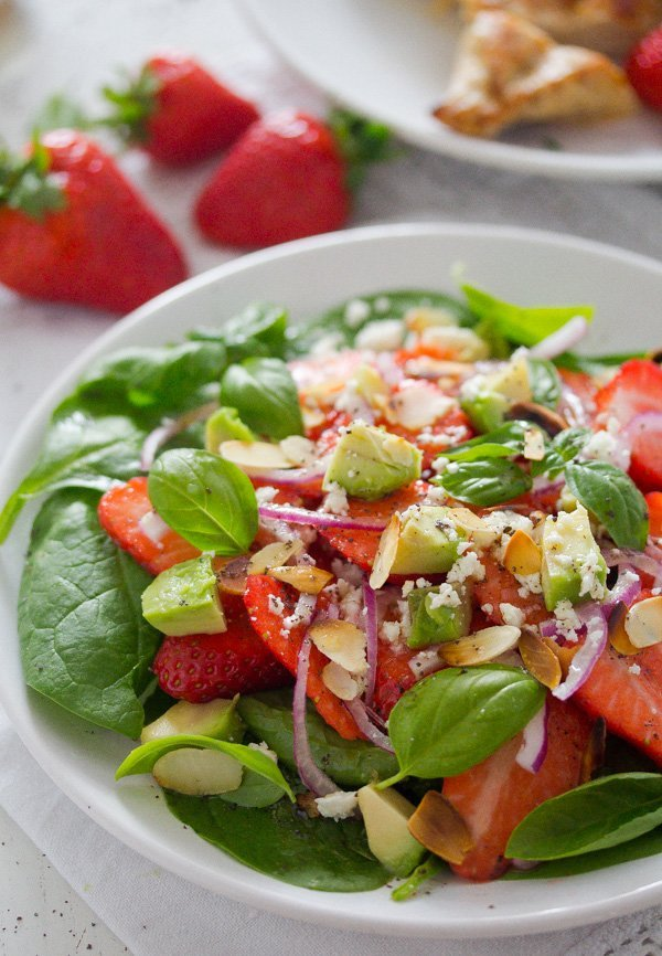 strawberry salad with poppy seed dressing 5 Strawberry Salad with Poppy Seed Dressing and Almonds