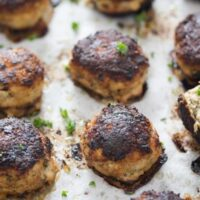 turkey meatballs 7 200x200 Easy Turkey Meatballs Without Breadcrumbs – Low Carb Turkey Meatballs