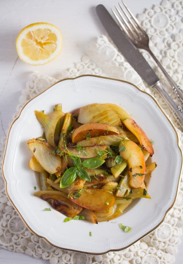 braised fennel with apples