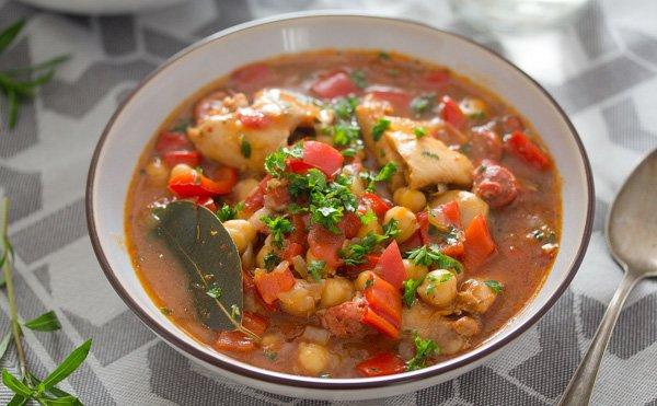 spanish chicken chorizo stew
