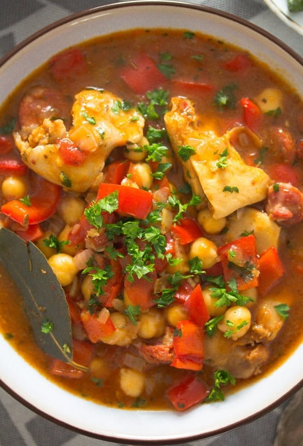 chicken chorizo stew 8 Chicken and Chorizo Stew – Spanish Stew