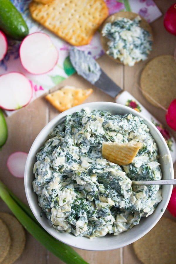easy spinach artichoke dip no bake
