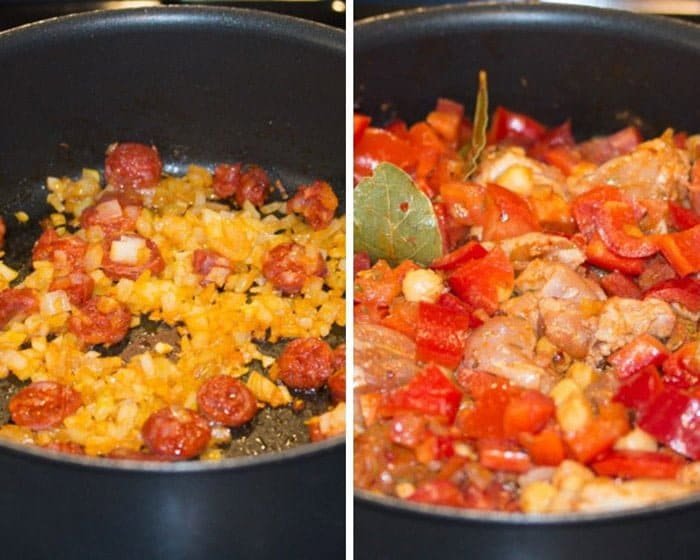 how to make chicken chorizo stew