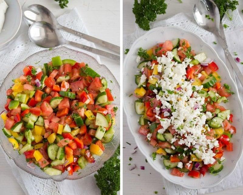 how to make shopska salad