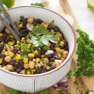 Mexican bean salad with chickpeas