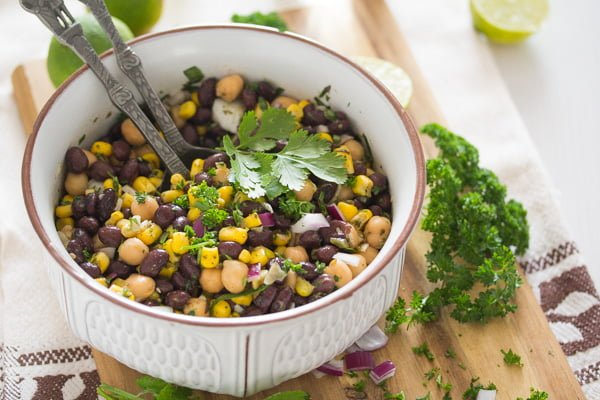 Mexican Bean Salad with Corn