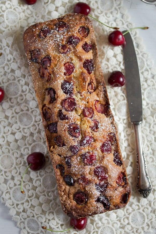 fresh cherry loaf cake 3 Fresh Cherry Loaf Cake