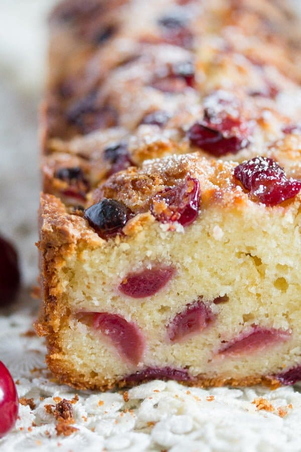 , Fresh Cherry Loaf Cake