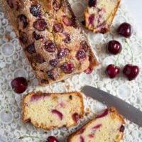 fresh cherry loaf cake 9 200x200 Fresh Cherry Loaf Cake
