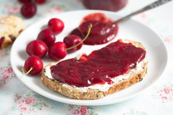 cherry butter on bread