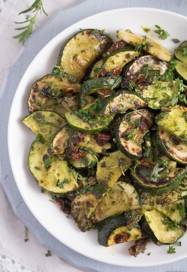 zucchini with pesto 11 Zucchini with Pesto
