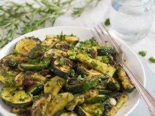 sauteed zucchini with pesto recipe