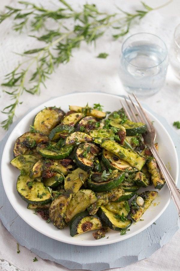 zucchini with pesto 8 Zucchini with Pesto
