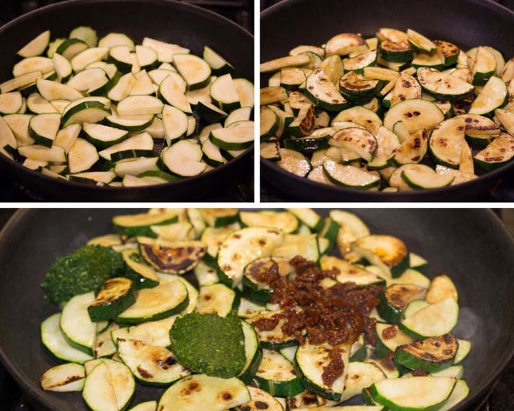 how to make zucchini with pesto