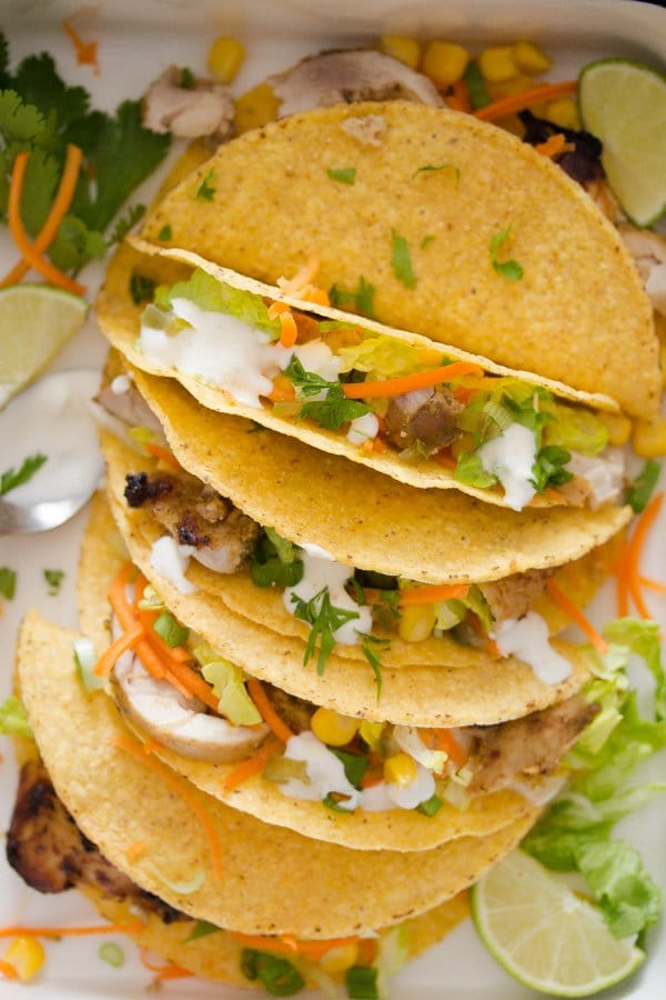 lime chicken tacos 8 Lime Chicken Tacos