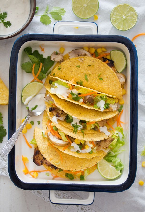 chicken tacos with lime marinade