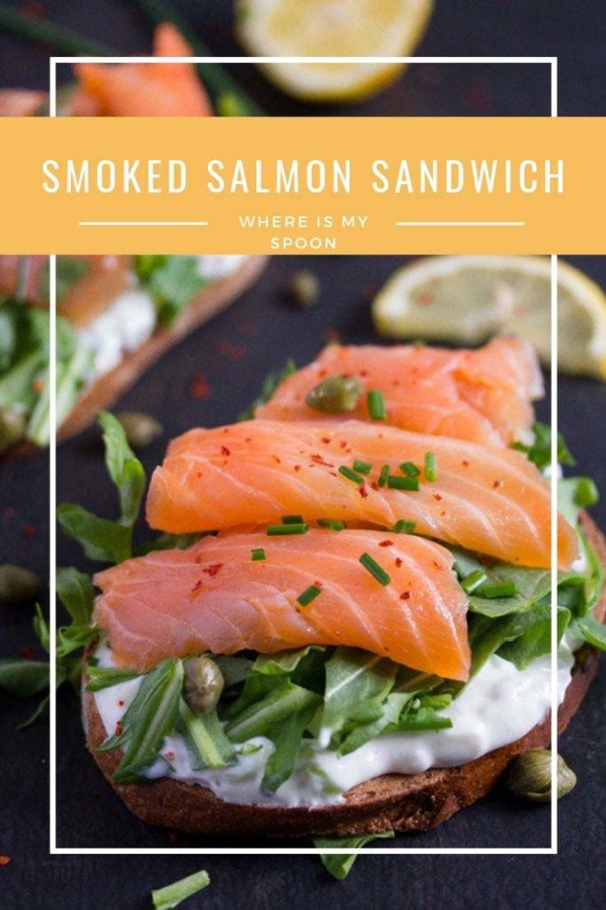 smoked salmon sandwich pin 683x1024 Smoked Salmon Sandwich