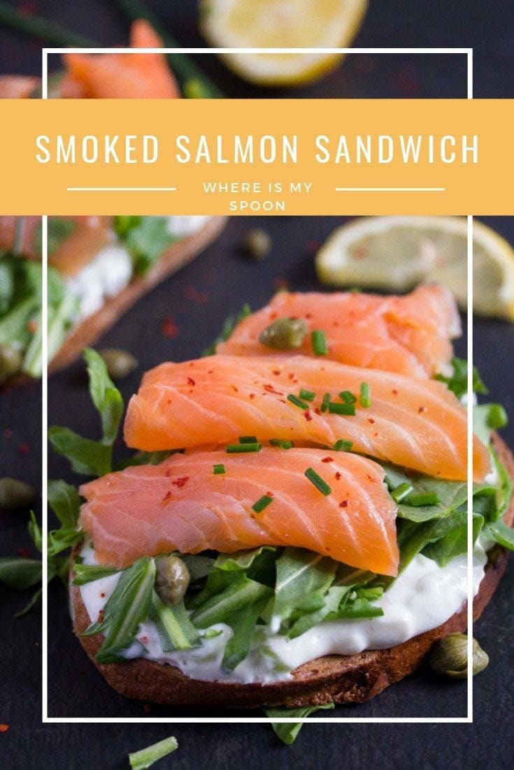 smoked salmon sandwich pin 735x1102 Smoked Salmon Sandwich
