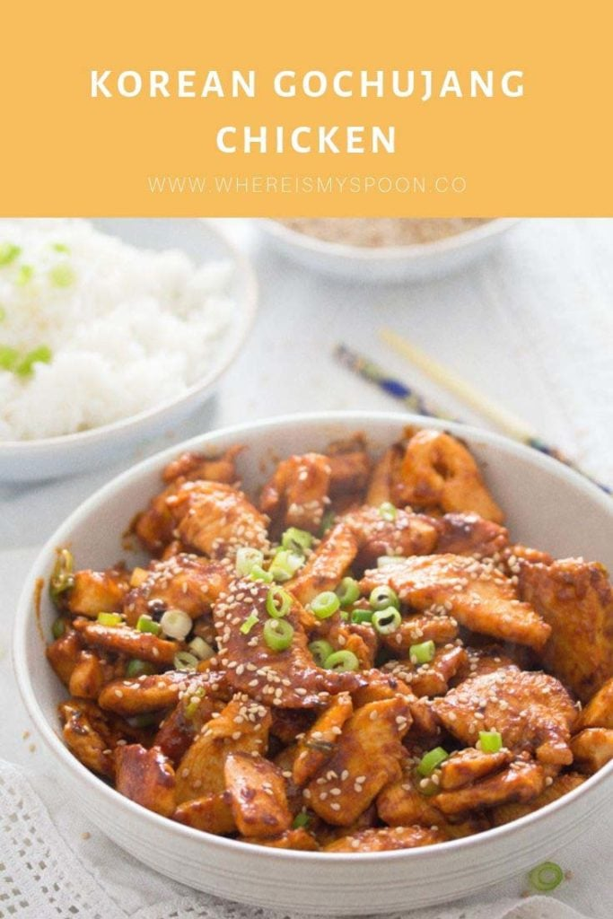 KOREAN GOCHUJANG CHIKEN 683x1024 Spicy Korean Chicken in Gochujang Sauce