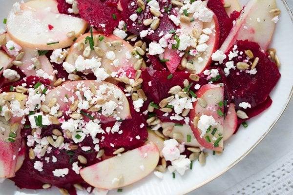 raw beet salad 8 Raw Beetroot and Feta Salad