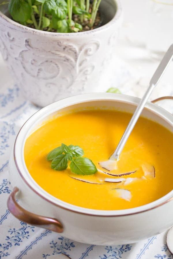 vegan carrot soup with ginger