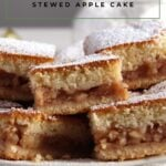 soft apple tray bake cake
